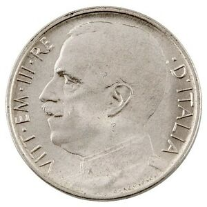 1920 ITALY-R 50 CENTESIMI PIECE PLAIN EDGE