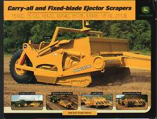 John Deere éjecteur Tracteur Grattoir brochure dépliant