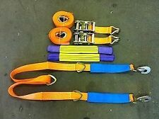 2 X 4 Meter Car Transporter Recovery Straps & Winch Brother for flatbed trailers
