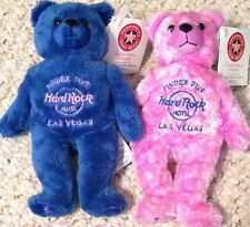 Hard Rock Hotel LAS VEGAS 2003 PINdex DEXTER & DIXIE TEDDY BEARA Bean Bag 2 BEAR