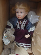 Boyds Yesterdays Child Doll Whitney With Wilson Tea Party #2761 of 12,000! NIB!