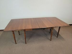 Sheraton Pennsylvania House Cherry Drop-Leaf Extension Dining Table w 2 leaves
