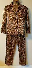Frederick's Of Hollywood Silky Pajama Set Long Sleeves Button Down Shirt Pants M