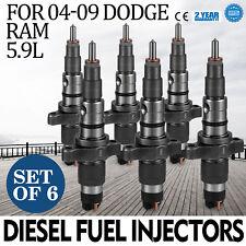 New Set of 6 Diesel Fuel Injectors For 04-09 Dodge Ram 5.9L Cummins 5.9L