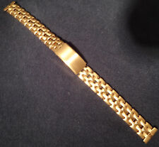 New ROWI Made in Germany 14mm Gold Tone Bracelet Ladies Dress Watch Band $83.95