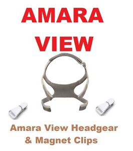HeadGear & Clips for Philips Respironics Amara View Full Face Mask