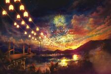 1000 Pieces Adult Puzzle Sunset Fireworks Lanterns Jigsaw Educational Toys Gift