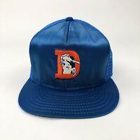 VTG NFL Denver Broncos Satin AJD Super Stripe Snapback Cap