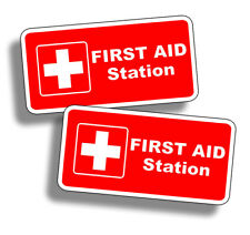 First Aid Station Sticker Vinyl Emergency Safe Safety Decal Fire Rescue 911 1st
