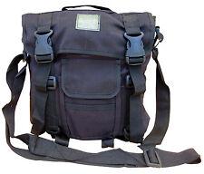 Mens Travel Shoulder Bag Satchel Messenger Army Military Combat Surplus Black