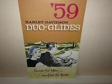 Original 1959 Harley Davidson Duo-Glide Brochure