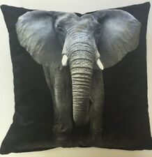 Animal Theme - African Grey Elephant Photographic Square Cushion Cover 45 X 45cm