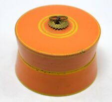 Orange Color Decorative Collectible Face Powder Box / Kitchen Box. i71-290 Us