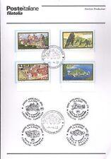 ITALIA 2000 IL TURISMO ITALIANO BOLLETTINO COMPLETO DI FRANCOBOLLI FDC