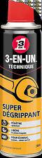 Super Dégrippant aérosol 250ml 3-EN-1 - action rapide - pénétrant - 3-in-one