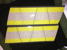 FIREFIGHTER HELMET TETS 8 PACK TETRAHEDRONS FIRE HELMET STICKER -YELLOW/W STRIPE
