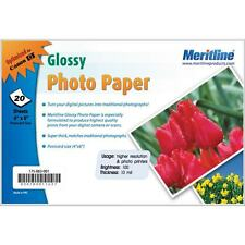 "20 Sheets Glossy Photo Paper 4""x6"" Brightness100 EPSON - - -  Worldwide Shipping"