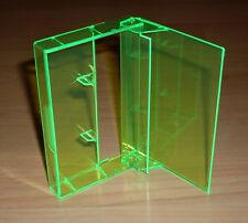 10 Kassettenhüllen Leerhüllen Cassetten MCs Hüllen neon grün Box Kassetten Neu