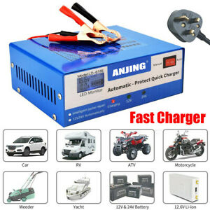 10A Heavy Duty Smart Car Battery Charger Automatic Pulse Repair 12V 24V AGM GEL
