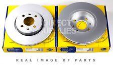 2 X FRONT AXLE BRAKE DISCS FOR RENAULT MEGANE SCENIC CLIO WIND COMLINE ADC1517V