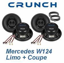 Mercedes W124 E-Klasse Limo Komplettset Front + Heck Boxen Lautsprecher Crunch