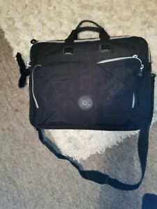 BLACK DESIGNER KIPLING LAPTOP BAG WITH DAVINA MONKEY CHARM