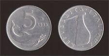5 LIRE 1954 DELFINO - ITALIA