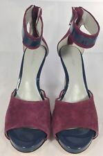 e4337629fd Calvin Klein Phylicia Womens Purple Open Toe Suede Pumps Heels Shoes Size  6M EUC