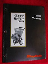 1993 SIMPLICITY WOOD CHIPPER/SHREDDER SERIES PARTS MANUAL