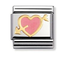 Nomination Charm Pink Pierced Heart RRP £22