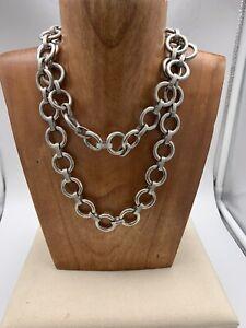 Vintage Ben Amun silver chain necklace