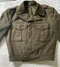 VINTAGE US ARMY JACKET 34S WOOL KOREAN WAR MILITARY UNIFORM CROPPED BOMBER