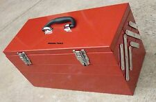 TOOL BOX -5 TRAY- ALL METAL- FOLDING CANTILEVER TYPE WITH TWO LOCK CATCHES- NEW.