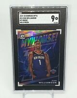 2019-20 Donruss Optic Zion Williamson My House Holo Prizm Silver RC Rookie SGC 9