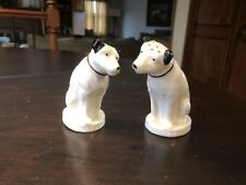 """Vintage RCA Nipper Dog Salt & Pepper Shakers By LENOX """"His Master's Voice"""""""