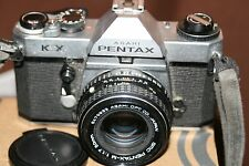 Pentax KX 35mm SLR Film Camera + 50mm 1:1.7 Lens - New Batteries - Working.