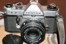 Cámara SLR Pentax Kx 35mm de cine + Lente 50mm 1:1 .7 - Baterías Nuevas-funcionando.