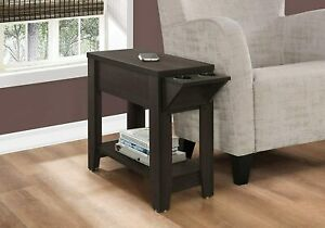 ACCENT TABLE - 24H / CAPPUCCINO WITH A GLASS HOLDER