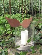 niedliche Edelrost Engelsflügel zum Einhängen Metall Dekoengel Rostengel