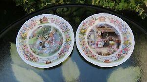 "2 X Wedgwood Foxwood Tales Plates.""Mrs Rabbits Kitchen"" & ""Picnic at Foxwood""."