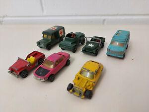 Corgi Juniors / Whizzwheels - Lot Of 7 - Jaguar, Jeep, Ford, Land Rover, Daimler