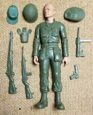 """1960s Marx 11.5"""" Stoney Smith Gear Accessories Army Fighter Action Figure Lot"""