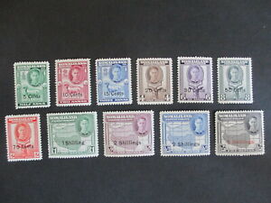 SOMALILAND PROTECTORATE - 1951 SET COMPLETE TO 5s ON 5r, FINE HINGED MINT.