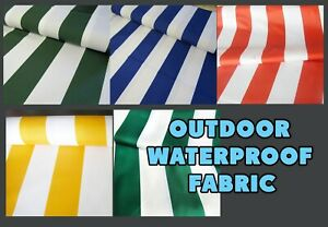 Stripes Outdoor waterproof fabric 155cm Water Resistant Boats Garden Cushions