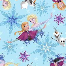Disney Frozen Elsa Sisters Ice Skating Badge Polyester Fleece Fabric - 2-yds