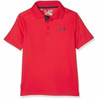Under Armour Performance Polo Shirt Boys Short-Sleeve Red Tee Top 1290341-600