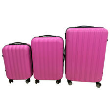 3PCS Luggage Travel Set Bag ABS Trolley Hard Shell Suitcase w/TSA lock Cute Pink