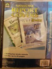 Corner Office Sliding Bar Report Covers 3 Pack