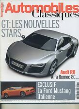 AUTOMOBILES CLASSIQUES n°159 FEVRIER 2007 AUDI R8 ALFA ROMEO 8C V8