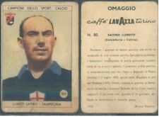 FIGURINA CALCIO CAMPIONI SPORT*CAFFE' LAVAZZA ED.1950*SAMPDORIA-LUSETTI*N.80